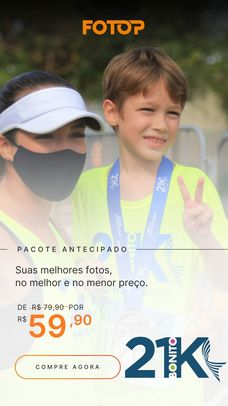 PACOTE DE FOTOS - BONITO 21K KIDS 2021