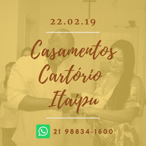 Casamentos Cartório Itaipu - WhatsApp 21 9 8834-1600 on Fotop