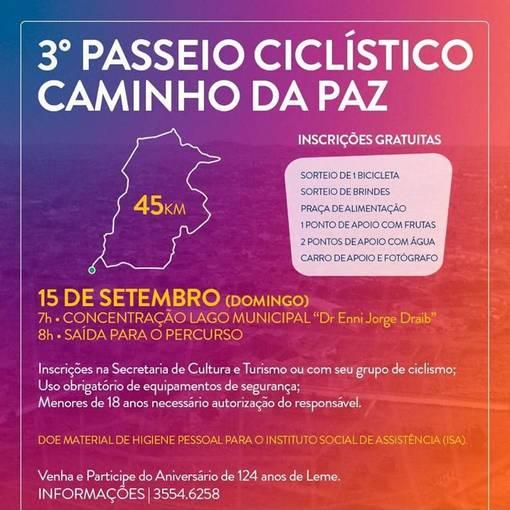 3° Passeio Ciclistico Caminho da Paz on Fotop