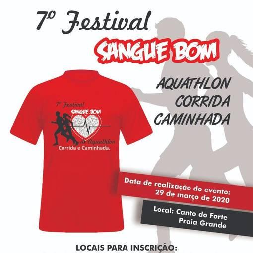 7º Festival Sangue Bom de aquathlon, corrida e caminhada no Fotop