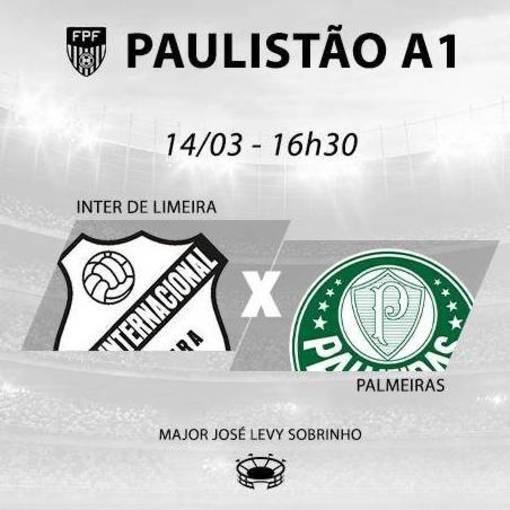Inter Limeira x Palmeiras on Fotop