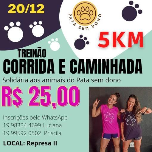 Treinão Corrida e Caminhada Solidária Pata Sem Donosur Fotop